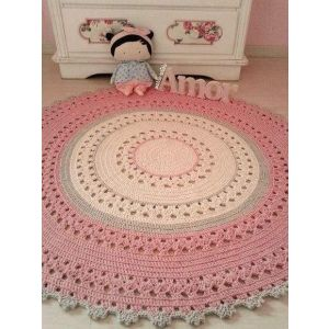 Baby girl room round rug