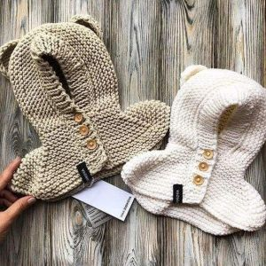 Baby hooded poncho