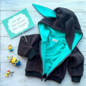 """Baby hoodie with ears """"Funny Bunny"""""""