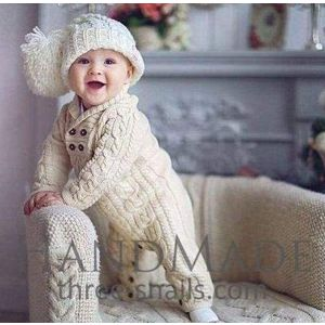 Baby knitted outfit - romper
