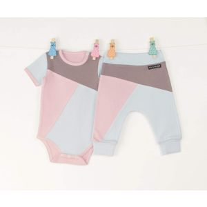 "Baby set: onesie and pants ""Three colors"""