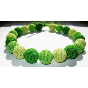 "Baby teething necklace ""Green fresh"""