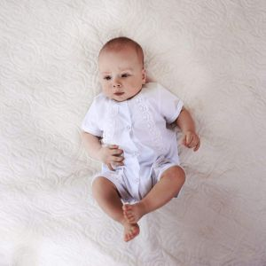 Baptism outfit. Boys christening romper
