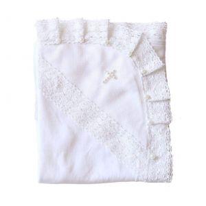 Beaded blanket for christening