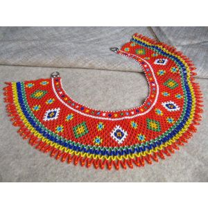 "Beaded collar necklace (sylyanka) ""Carpathian Sun"""