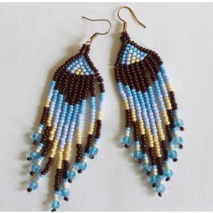 """Beaded dangle earrings """"Water Elemental"""""""