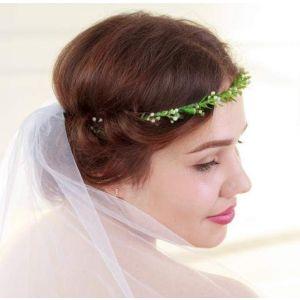 """Beaded headbands""""Green branch"""""""