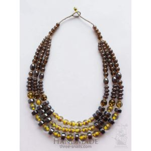 "Beaded necklace ""Bronze sunset"""