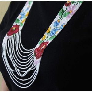 """Beaded necklace """"Flowered field"""""""