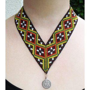 "Beaded necklace (gerdan) ""Blooming spring"""