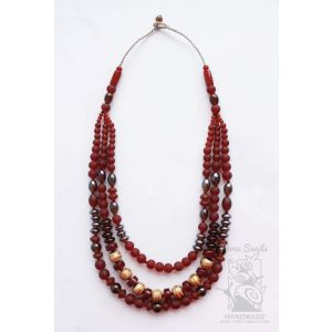"""Beaded necklace """"Red glow"""""""