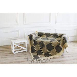 """Best wool blanket """"Chess board"""""""