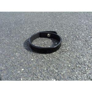 "Black leather bracelet ""Infinity"""