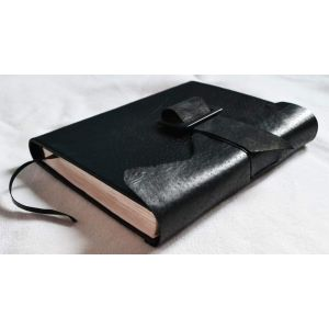 "Black leather diary ""Diplomat"""