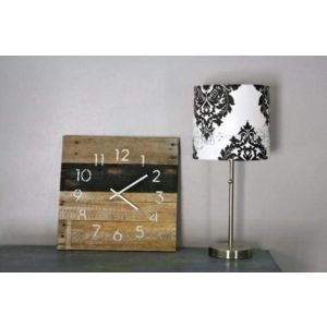 Black & White Reclaimed Wood Wall Clock