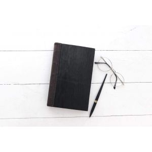 "Black wooden notebook ""Business"""