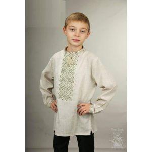 "Boys white linen shirt  ""Cream"""
