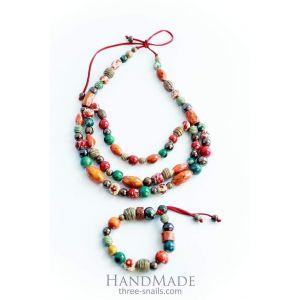 "Bracelet and necklace set ""Colorful jam"""