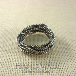 "Braided ring ""Several wires"""