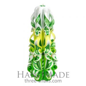 """Carved candle """"Lime time"""""""
