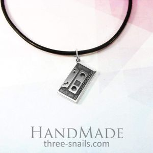 Cassette tape necklace «Nostalgia»