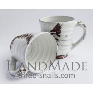 "Ceramic art cup ""White classic"""