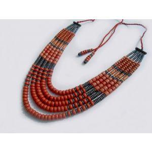 "Ceramic corals necklace ""Flame"""