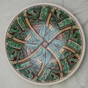 """Ceramic decorative plate """"Kolovrat"""""""