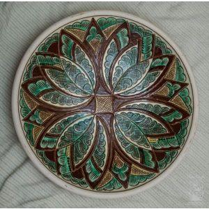 "Ceramic decorative plate ""Wild flower"""