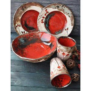"Ceramic dish set""Red briar"""