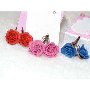 "Ceramic earrings ""Wild roses"""
