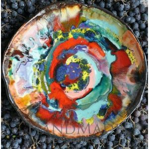 "Ceramic luxury plate ""Painter's dream"""