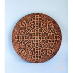 "Ceramic plate ""Celtic knot"""
