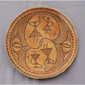 """Ceramic plate """"Dance of Goddesses"""""""