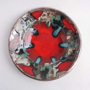 """Ceramic plate """"Red sun"""""""