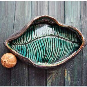"""Ceramic plates """"Leaf"""""""