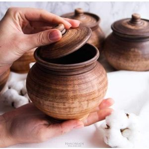 "Ceramic pots for cooking  ""Magic cranberry"""