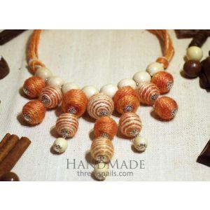 """Chunky necklace """"Orange jelly"""""""