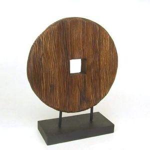 Circular carving wood decor stand