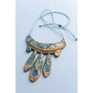 "Clay necklace ""Venus Sun"""