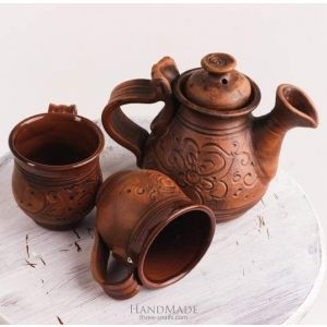 "Clay tea set ""Country tea-party"""