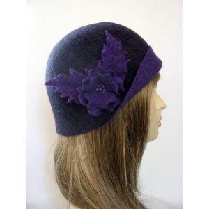 "Cloche hat ""Ink dream"""
