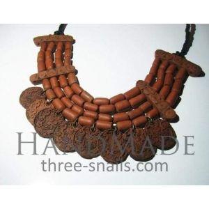 """Coin pendant necklace """"Ceramic treasure"""""""