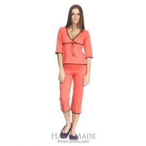 Cotton pajamas womens sleepwear (Camis and breeches)
