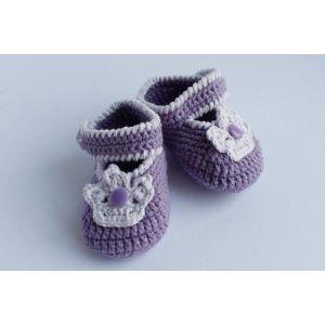 "Crochet booties ""Newborn princess"""