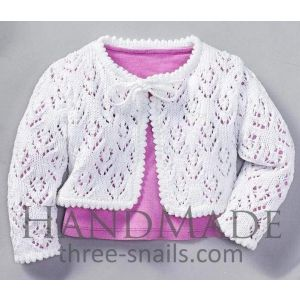 "Crocheted baby cardigan ""Pure"""