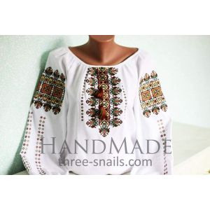 Custom embroidered apparel. Woman blouse