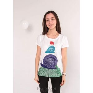 "Custom printed t-shirt ""Three Snails"""