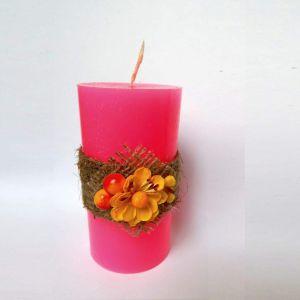 "Cylinder candle ""Pink Twilight"""