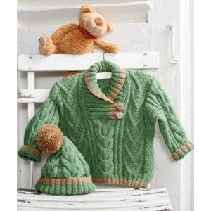 Cable knit set for boy